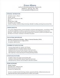 curriculum vitae best cv format resume 2015 free model template