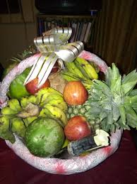 basket of fruits a basket of fruits and a family pre wedding introduction in