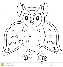 owl coloring page stock illustration image 50278100