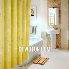 Yellow And Navy Shower Curtain Yellow Colored Fish And Star Images Kids Shower Curtains
