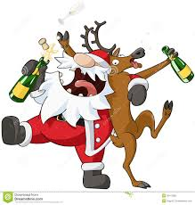 drunk reindeer party clipart