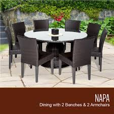 tk classics napa 60 inch outdoor patio dining table with 8