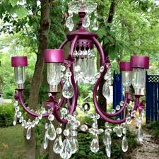 dollar tree solar lights and discarded chandelier feng shui