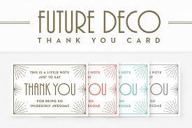 futuredeco thank you card card templates creative market