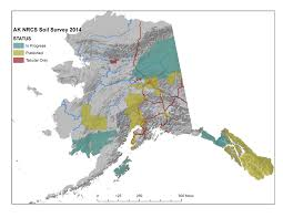 Alaska Road Map by Soil Surveys Nrcs Alaska
