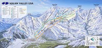 Keystone Resort Map Squaw Valley Piste Maps And Ski Resort Map Powderbeds