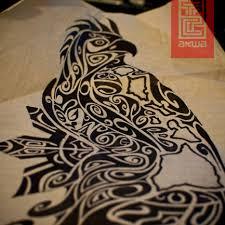 tribal polynesian bird design