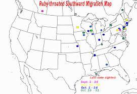 Hummingbird Map Ruby Throated Hummingbird Migration Map