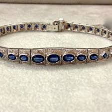 bracelet diamond sapphire images Diamonds sapphire white gold bracelet village goldsmith antiques jpg