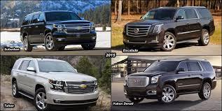 cadillac escalade vs yukon denali benim otomobilim 2015 escalade vs 2015 chevy suburban vs 2015