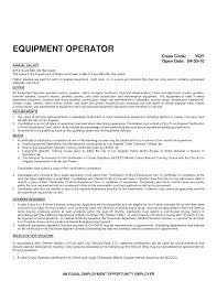 Heavy Equipment Mechanic Resume Examples Excavator Operator Sample Resume Best Resume Examples