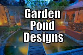 garden pond design water feature ideas youtube