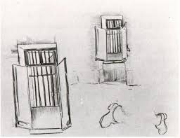 barred windows by vincent van gogh 804 drawing