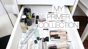 makeup collection storage face primers youtube