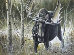 how to paint a moose wildlife painting lesson