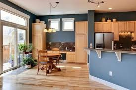 new brown kitchen walls with oak cabinets taste