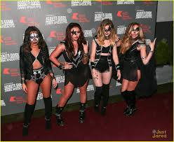 little mix dress up as kiss for kiss fm u0027s haunted house party