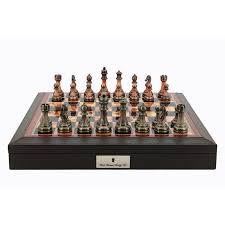 dal rossi bevelled edge chess set antique pieces jadrem toys