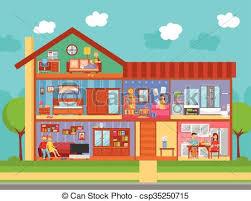 home interior vector family home interior design concept family home interior