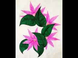 Painting Designs Fabric Painting Floral Designs