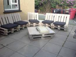 Patio Furniture Pallets by Pallet Patio Set U2022 1001 Pallets