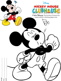 mickey mouse coloring free printable birthday mickey