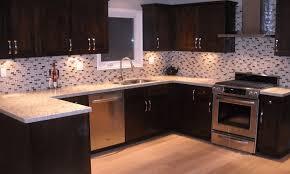 kitchen colors dark cabinets dark oak kitchen cabinets white granite polished countertop brown