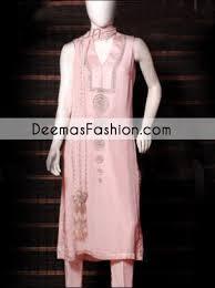 pakistani designer wear light pink casual dress latest designer