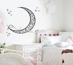 removable moon wall stickers kids room wall stickers decals baby