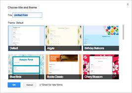 google forms template google docs integration send responses to