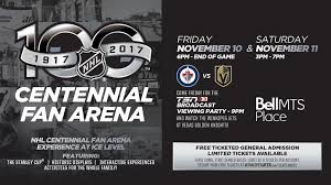 nhl centennial fan arena jets to host nhl centennial fan arena at bell mts place