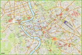 Rome Italy Map Rome Tourist Map
