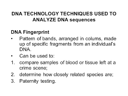 dna technology the new genetics ppt download