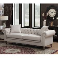 Beige Fabric Sofa Earl Fabric Sofa Free Shipping Today Overstock Com 17226179