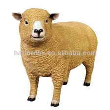 size sheep fiberglass resin garden animals ornament