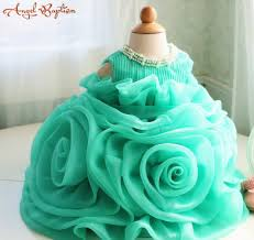 Thanksgiving Dresses For Infants Aliexpress Com Buy Ball Gown Green Ruffles Baby 1 Year Birthday