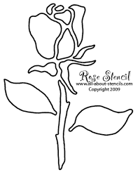 7 best images of rose stencils printable templates free