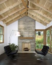 living room with vaulted ceiling floor to ceiling fireplace design ideas living room transitional