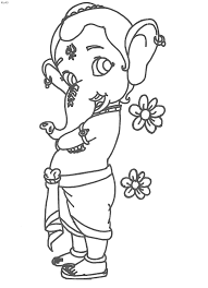 bal ganesh coloring page kids website for parents
