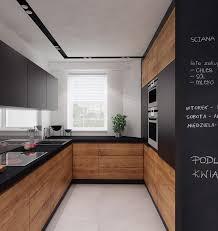 lack kchen schwarz küche in u form in schwarz und mitteldunklem holz kitchen
