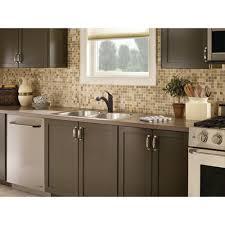 decor moen renzo 2 handle kitchen faucet in black with sprayer