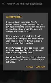 unlocking or activating plex for android u2013 plex