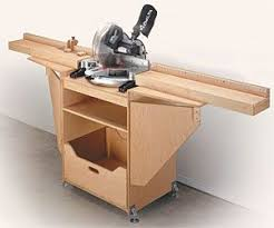 table saw station plans miter saw station woodworking plan for the shop pinterest