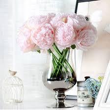 peony arrangement hot sale artificial fake peony silk flowers bridal bouquet flower