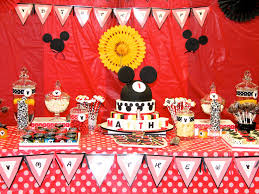 Mickey Mouse Table by Mickey Mouse Birthday Decor Ideas Image Inspiration Of Cake And