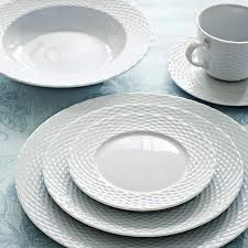 pillivuyt basketweave porcelain dinner plates williams sonoma