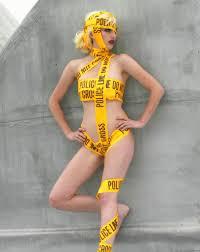 lady gaga halloween costumes lady gaga caution tape costume clip art library