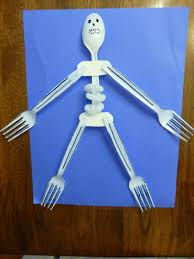 Halloween Skeleton Craft by Upcycling Obsession 15 Awesome Crafts Made With Plastic Forks