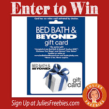 win gift cards online win a 500 bed bath beyond gift card julie s freebies