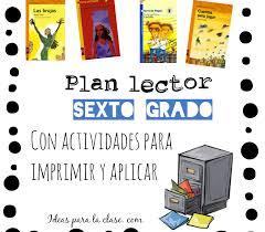 colombia libro de lectura grado 6 plan lector sexto grado con actividades listas para aplicar